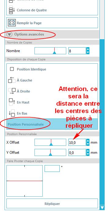 distance egal et repetition de forme Repliquer_distance