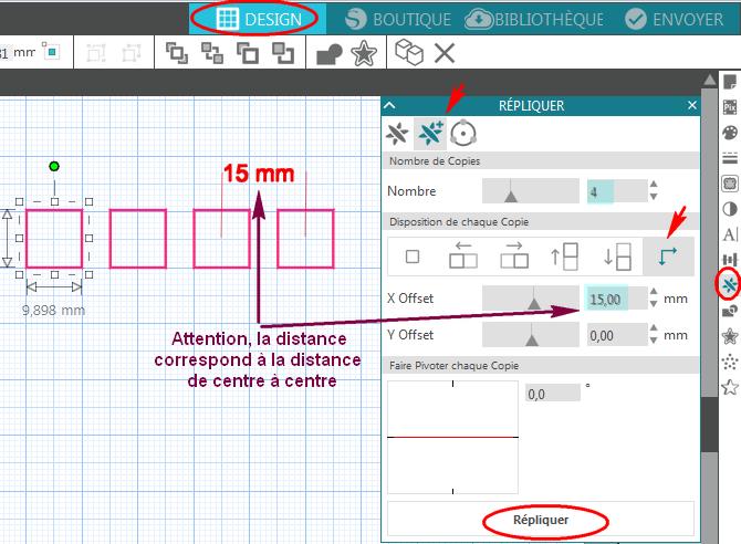 distance egal et repetition de forme Repliquer_Distance_V4