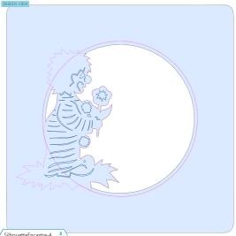 Comment incruster une image (silhouette) dans une carte CopieCercleSupprimer