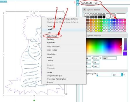 Comment incruster une image (silhouette) dans une carte CopierCollerDevant