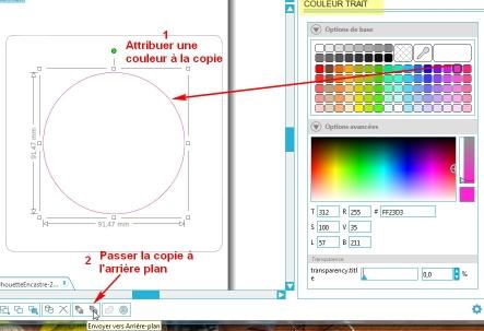 Comment incruster une image (silhouette) dans une carte CopierCollerDevantCercle_2