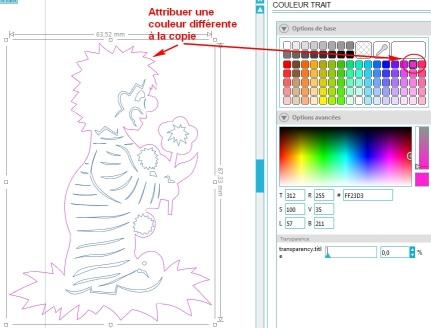 Comment incruster une image (silhouette) dans une carte CouleurCopie