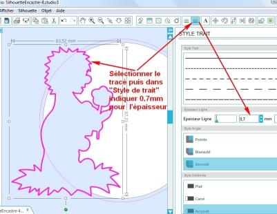 Comment incruster une image (silhouette) dans une carte EpaisseurTrait
