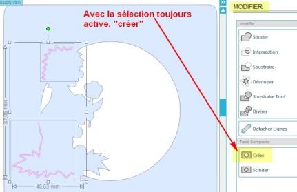 Comment incruster une image (silhouette) dans une carte SelectionCopieCercleCopieDessinCreer