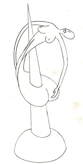 Dessins de sculpteurs Transpercee