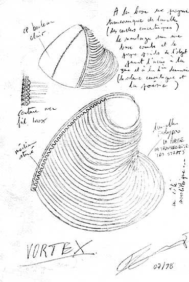 Dessins de sculpteurs Vortex-dessin