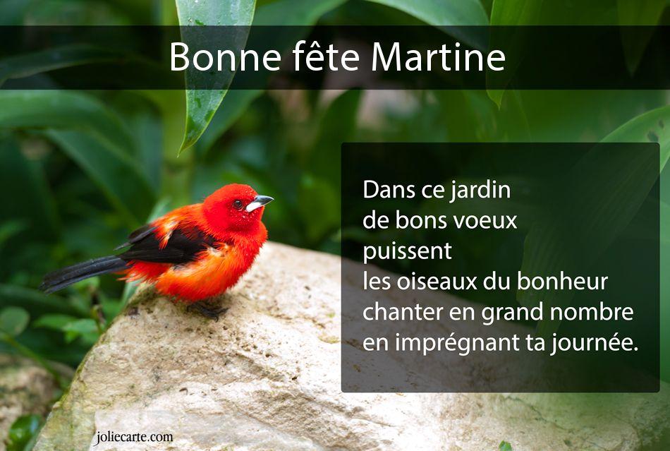 bonne fête Martine Martine