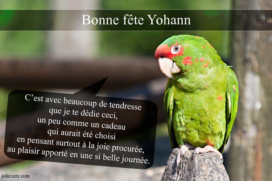 """**** """" Un Joyeux Anniversaire à Yohann  """" *** Yohann"""