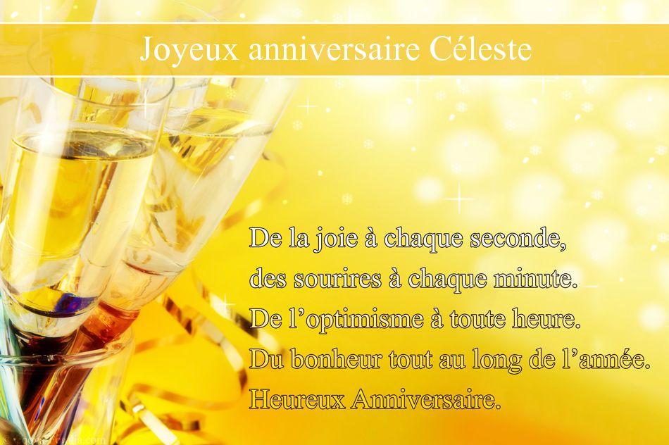 Bon anniversaire Céleste ! Celeste
