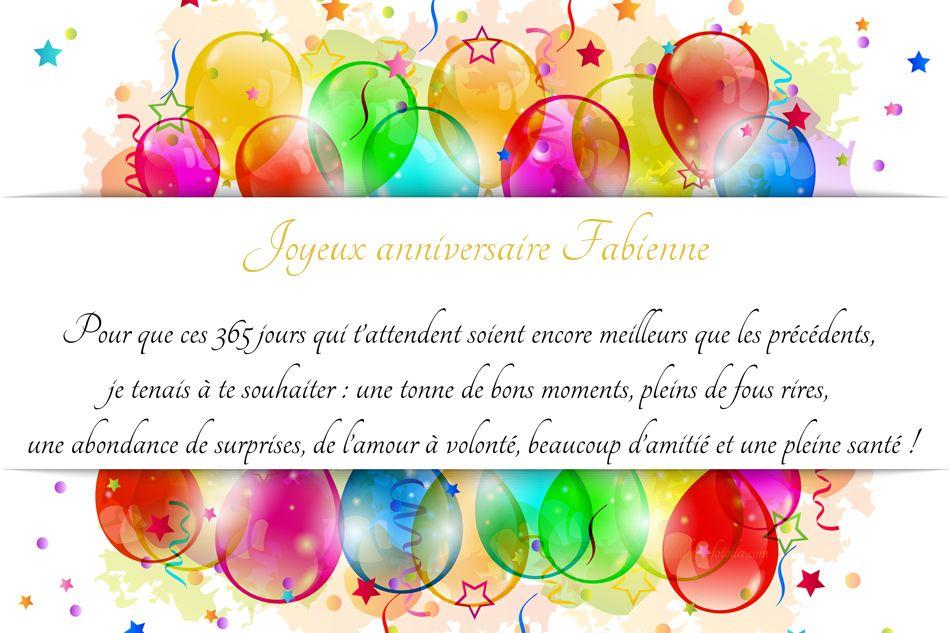 joyeux anniversaire Fabienne  Fabienne
