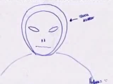 UFO Occupant Sketches / Non Human Reports. 7762a724382e