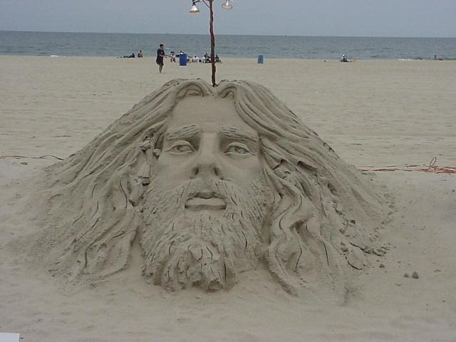 3صورللسيد المسيح مصنوعة برمل البحر ررررروعة 109354819