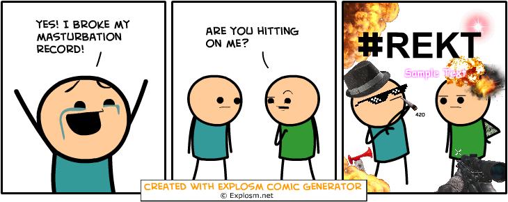 Random Comic Generator UntidyFrogsSteel