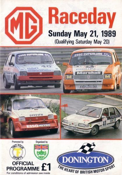 Round 3 - MG Race Day - Donington Park [Oct 12th] _Donington-1989-05-21