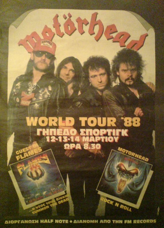Motorhead - Athens 1988  Afisa