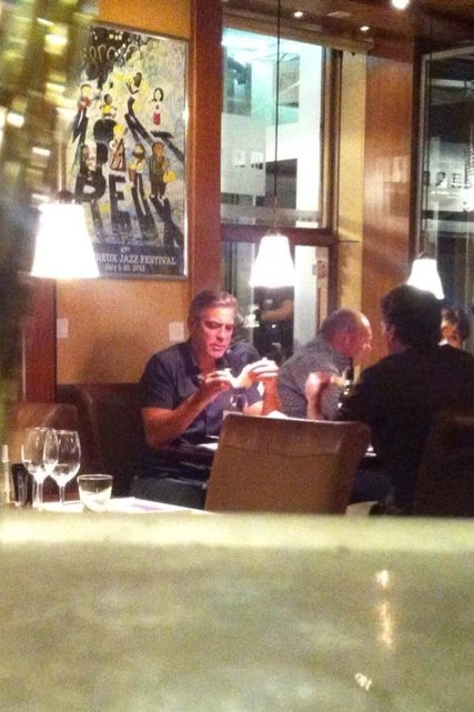 "George Clooney at ""The Rouvenaz"", Montreux, Wednesday 21st August 2013 1426459_pic_970x641"