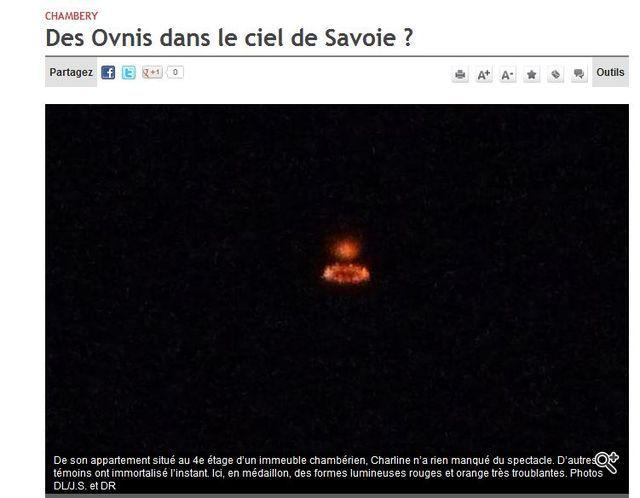 Des OVNI donnent des cauchemars aux Savoyards Topelement