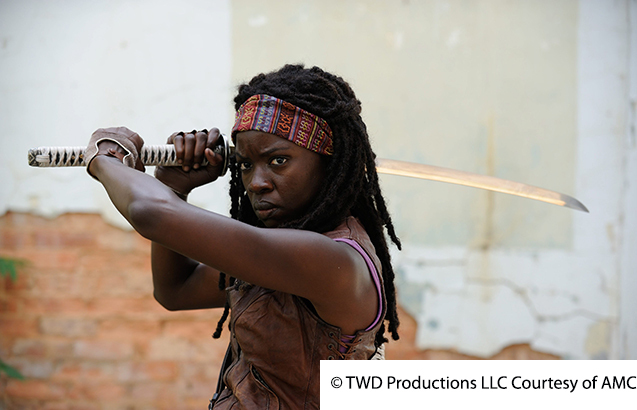 the walking dead le test Michonne1