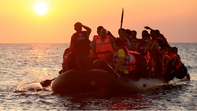 Scotland rallies behind refugees as humanitarian crisis escalates 366217-migrants-and-refugees-in-a-rubber-dinghy-arriving-on-the-beach-at-psalidi-near-kos-town-kos-greece