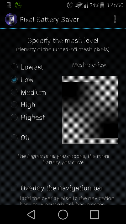 pixel battery saver