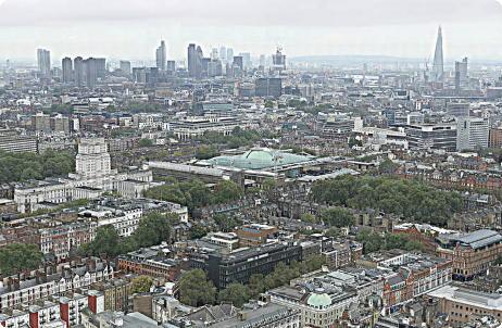 Fotografia panorâmica de Londres