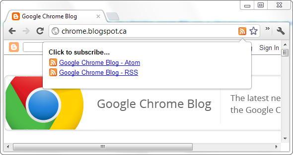 Chrome feeds