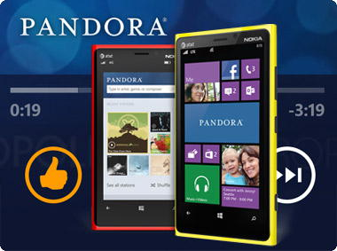 Pandora no Windows Phone