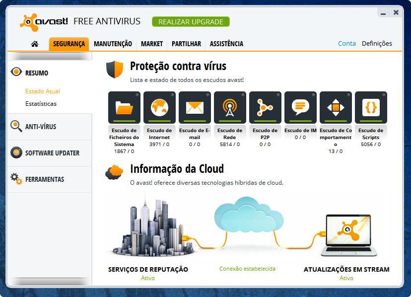 Avast 8 - Protecção na Nuvem