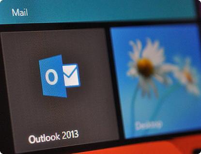 Outlook no Windows RT