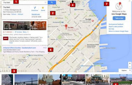 Google Maps Nova Interface