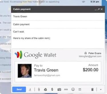 Google Wallet via Gmail