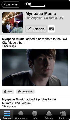 MySpace iOS