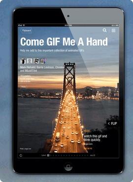 Flipboard iOS gif