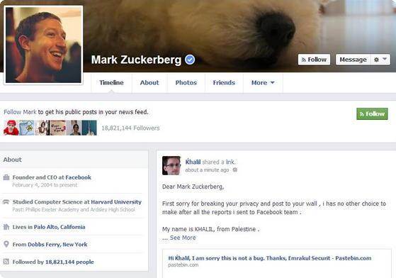 Mark Zuckerberg exploit