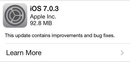 iOS 7.0.3