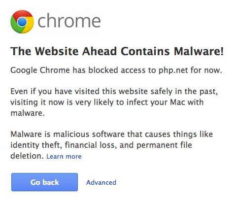 malware no site do php.net