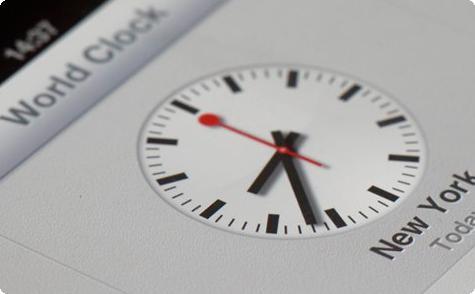 Design do relógio da Apple no iOS6