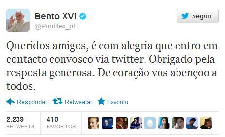 Twitter de Bento XVI