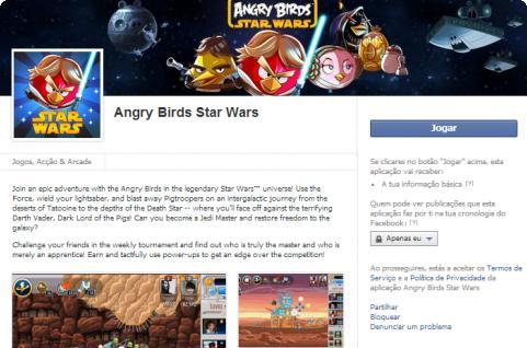 Angry Birds Star Wars no Facebook