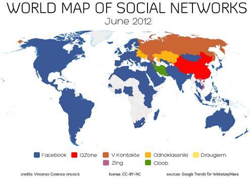 Mapas da rede social