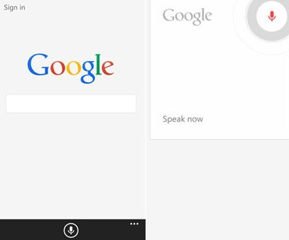 google no windows phone