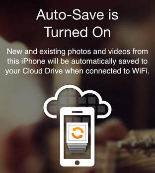 amazon cloud drive ios auto-save