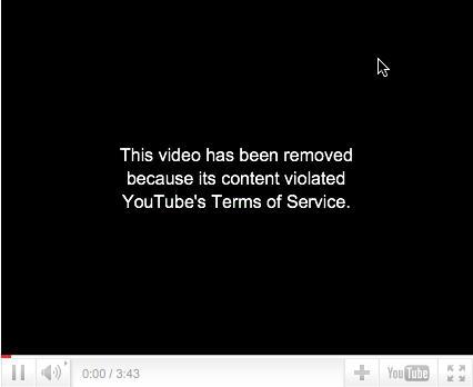 youtube removido