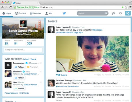 twitter interface design