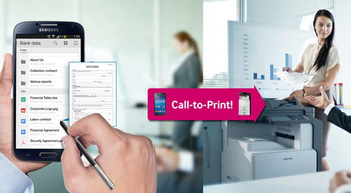 samsung call to print