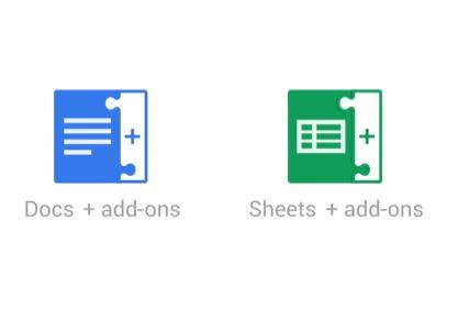 Google docs e sheets addons