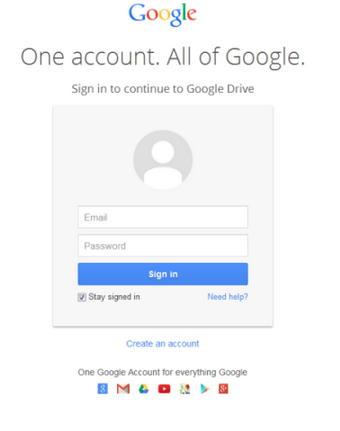 google login fake page