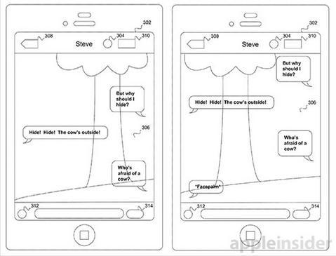 apple patente fundo sms