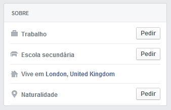 facebook pedir botão