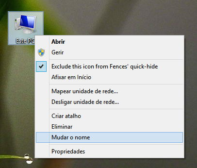 alterar nome atalho windows